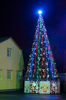 Стандартное освещение елки